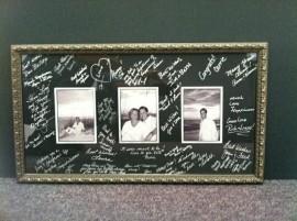 wedding memories framed by Kris The Framer